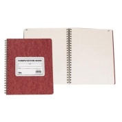 TOPS BUSINESS FORMS                                Research/Computation Notebook, 11-3/4''x9-1/2'', 76 Sheets., Brown
