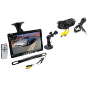 Pyle PLCM7500 18cm Window Suction Mount TFT/LCD Video Monitor with Universal Mount Rearview Backup Camera and Distance Scale Line