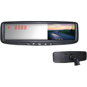 Boyo VTB45M 10.9cm Digital TFT LCD Mirror Monitor with Dual Mounting Solution, Bluetooth and Compass