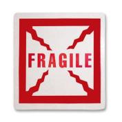 Tatco Shipping Label, Fragile, 500 per Roll, Red