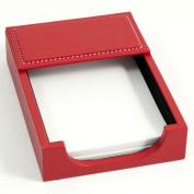 Bey-Berk D1612 Memo Holder - Red Leather