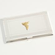 Bey-Berk D156B Stock Market Silver Plated Business Card Case