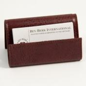 Bey-Berk D1114 Business Card Holder - Tan Leather