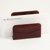Bey-Berk D1116 Letter Rack - Tan Leather