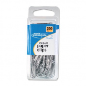 Swingline Paper Clips, Standard, No. 1, 200/PK, Silver