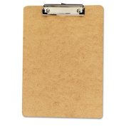 Universal Hardboard Clipboard, 1.3cm Capacity, Holds 8 1/2w x 14h, Brown, 3/Pack