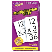 Trend Enterprises Math Flash Cards, Multiplication, 0 To 12, 3''x5-7/8''