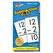 Trend Enterprises Math Flash Cards, Subtraction, 0 To 12, 3''x5-7/8''