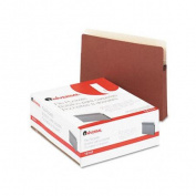 Universal 4.4cm Expanding File Pockets, Straight Tab, Letter, Redrope/Manila, 25/Box