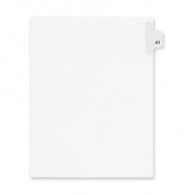Kleer-Fax, Inc. Index Dividers,Number 41,Side Tab,1/25 Cut,Letter,25/PK,WE