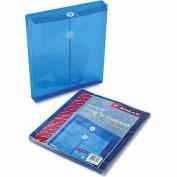 Smead Poly Envelope, 2.5cm - 0.6cm Expansion, String-Tie Closure, Top Load, Letter Size, Blue, 5 per Pack