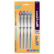 Sanford Vision Elite Gel Pen - 0.8 Mm Pen Point Size - Assorted Ink - Light Grey Barrel - 4 / Pack