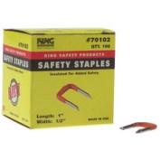 King Safety Products 70102 100 Count .5 in. Orange Insulating Safety Staples
