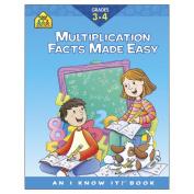 School Zone Curriculum Workbooks, Multiplication Facts Grades 3-4