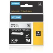 "Dymo Rhino 1/4"", 6mm Perm Poly Label Cassette, Clear"