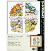 "Dimensions ""A Season For Everything"" Stamped Cross Stitch Kit, 35.6cm x 35.6cm"
