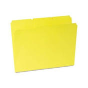 Universal Coloured File Folders, 1/3 Cut Assorted, Two-Ply Top Tab, Letter, Yellow, 100/Box