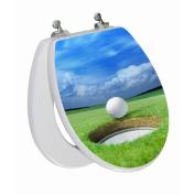 Topseat 3D Series Round Golf Toilet Seat