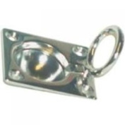 United States Hardware M-088C Small Hat Chrome Lifting Ring Small Flush Hatch Marine - Each