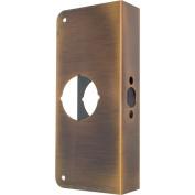 Prime-Line Door Reinforcer Entry 5.1cm - 0.3cm 7.6cm - 2.2cm W X 23cm H Antique Brass Solid Brass