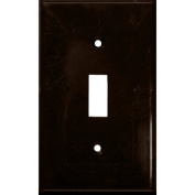 Morris Products 1 Gang Lexan Wall Plates for Toggle Switch in Brown