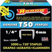 Arrow Fastener Co. 504IP 5000 Count .25 in. T50 Staples
