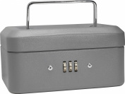 Barska Optics CB11782 6 in. Cash Box with Combination Lock Grey