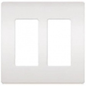 Lutron Electronics CW-2-WH Claro Wall Plate 2-Gang, White