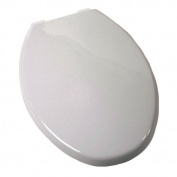 Jones Stephens Plumbing C3B3E2-00 White Plastic Elongated Euro Toilet Seat