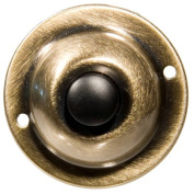 Morris Products Unlit Round Pushbuttons in Antique Brass