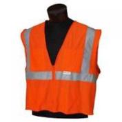 Jackson Safety 3022282 Orange Reflective Mesh Safety Vest - X-Large/2X-Large