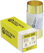 Precision Brand Brass Shim Stock Rolls - 17s1 .001 brass shimstock 1.8mx250cm
