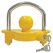 Cequent Products 72783 Yellow and Chrome Universal Coupler Lock