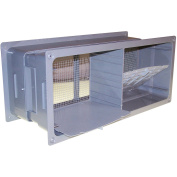Norwesco 7.25in. x 18.5in. ABS Foundation Vent 596137