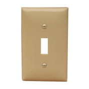 Morris Products 1 Gang Lexan Wall Plates for Toggle Switch in Ivory