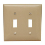 Morris Products 2 Gang Lexan Wall Plates for Toggle Switch in Ivory