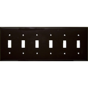 Morris Products 6 Gang Lexan Wall Plates for Toggle Switch in Brown