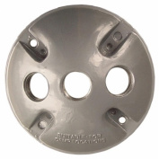 Morris Products Round Weatherproof Covers in Grey with Three Hole