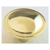 Ultra 1-.25 in. Polished Brass Traditions High Density Zinc Knob 41521