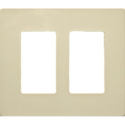 Morris Products 2 Gang Decorator Screwless Snap in Wall Plates in Ivory