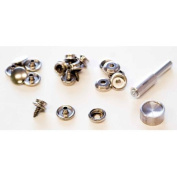 Lord and Hodge Inc. Brass Nickel Plated Screw Stud Snap Fastener Kit 6 Count
