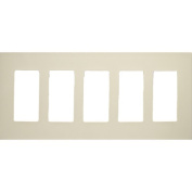 Morris Products 5 Gang Decorator Screwless Snap in Wall Plates in Ivory