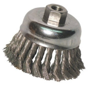 Anchor Knot Cup Brushes - 4'' double row knot cup dr-4 .020 5/8-11