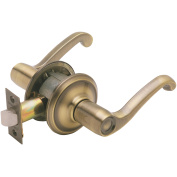 Schlage F10VFLA609 Antique Brass Flair Lever Passage Set