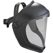 Uvex by Sperian 763-S8510 Bionic Black Matte Faceshield Clear Pc Lens