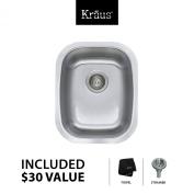 Kraus 5.5m x 0m x 5.5m x 0m Undermount Single Bowl Kitchen Sink