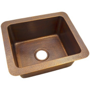 The Copper Factory 5.5m x 0m x 5.5m x 0m Solid Hand Hammered Single Bowl Drop-In/Undermount Kitchen Sink