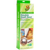 Duck Brand Double Draught Door Seal, Brown, 2-Pack