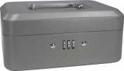 Barska Optics CB11784 8 in. Cash Box with Combination Lock Grey
