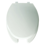 Bemis B7650T000 Elongated Open Front Toilet Seat in White